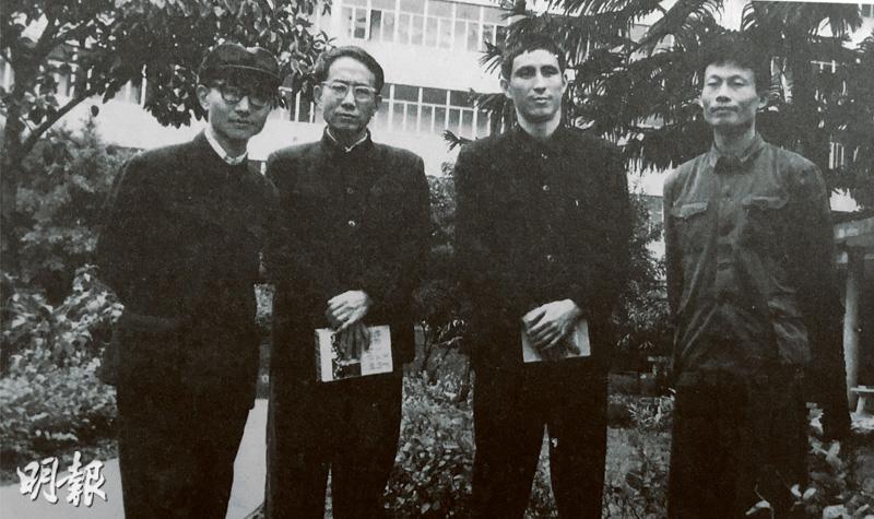 「李一哲」其實是4人的集體筆名,主要成員包括李正天(左起)、郭鴻志、王希哲和陳一陽。(黑白資料圖片)