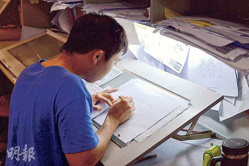 2D動畫前期工序,包括原畫及故事板均是手繪。精靈活潑的動畫人物,背後是他們一筆一畫的結晶。