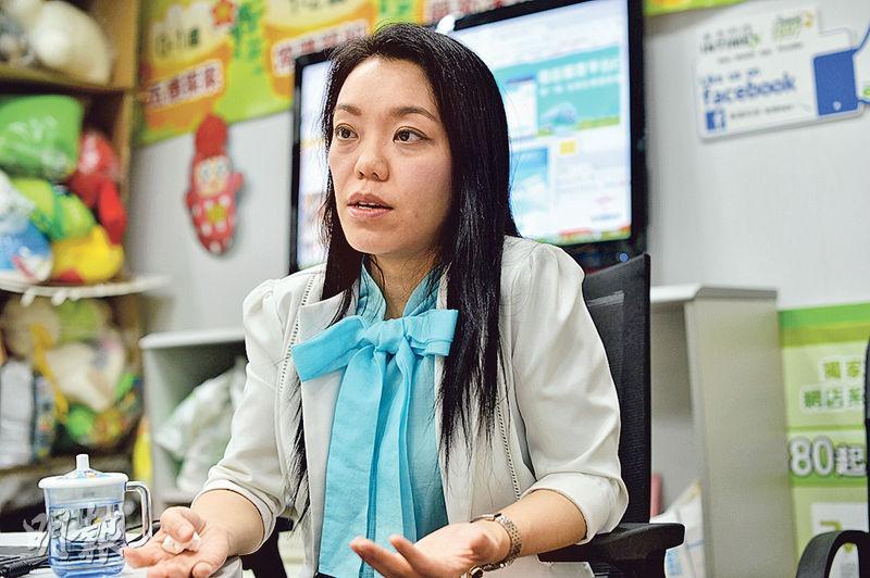 泰美科技行政總監周靄儀(圖)認為,香港年輕人投身IT界不用冒進創業,可先在相關企業打好基本功,累積更多行政管理等經驗,對日後創業更事半功倍。(蘇智鑫攝)