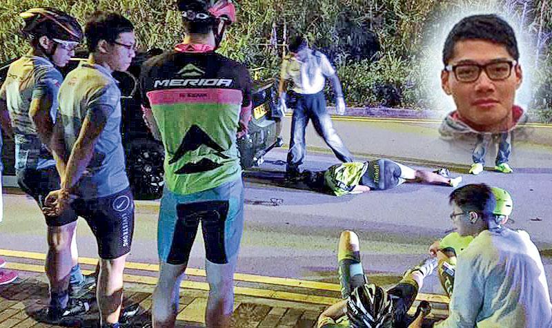 啟德備戰公路賽 領頭「破風」大哥遭撞斃 越線寶馬猛撼 單車兄弟陰陽永隔