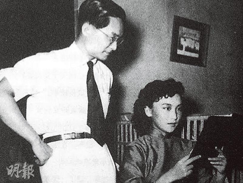 金庸(左)小說中的小龍女,是否如傳說中原型是取自夏夢(右)呢?(資料圖片)