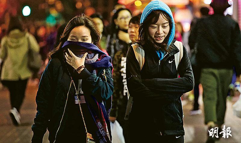 氣溫1天急降8度發寒警  市區今早11℃ 流感「食壞肚」普遍
