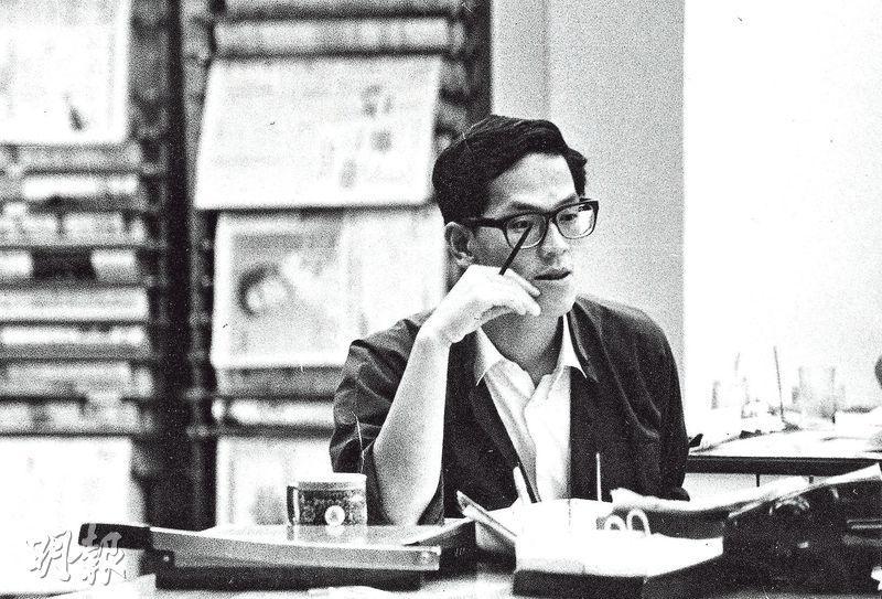曾德成1967年因在學校派反英傳單判囚兩年,出獄後先後加入左派《新晚報》及《大公報》。圖攝於80年代。