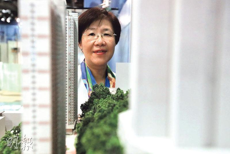 過去參與多項公屋發展的房屋署(發展及建築)副署長馮宜萱表示,自2000年起土地較以往細小及「三尖八角」,房屋署需採用非標準型大廈設計。(曾憲宗攝)
