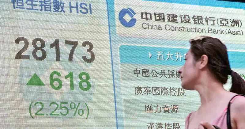 港股急飈618點 創28月新高  內銀大爆發 工行招行勁升8%