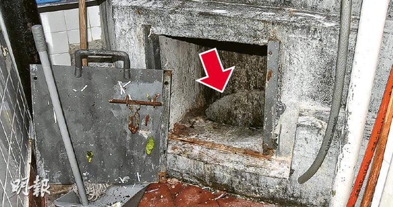 清潔工墮垃圾槽亡 業界促改工序 指每層垃圾直丟地下如陷阱 盼廢除垃圾槽