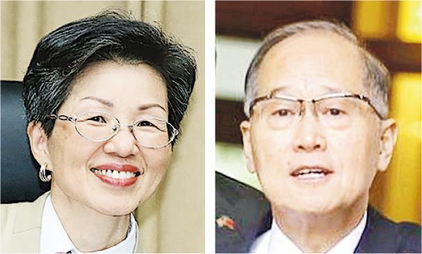 台灣內閣改組,陸委會主委張小月(左圖)、外交部長李大維(右圖)分別被接替。李大維將出任國安會秘書長,張小月則另有任用。(網上圖片)