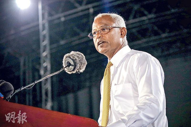 馬爾代夫反對派候選人薩利赫(圖)爆冷擊敗現任總統亞明。(法新社)