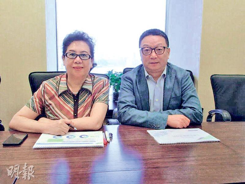 博奇環保副總裁曹曉萍(左)稱,集團正開拓更多非電力環保項目,並進軍毛利率較高的土壤修復及固體廢物處理業務。(陳偉燊攝)