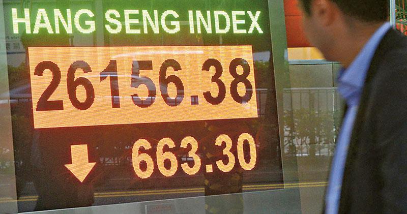 中美再生波折 夜期跌穿26000點  恒指日間跌663點 華為相關股急跌