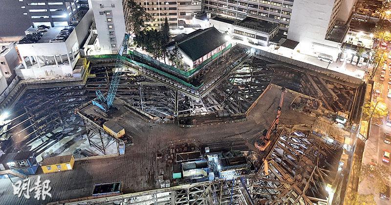 挖地庫致古蹟沉降 廣華擴建停工3月 醫局稱受控 專家:沉降不均或「扯裂」