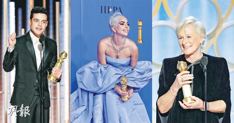 雷米馬力稱帝 《波希米亞狂想曲》膺最佳電影 格蘭高絲爆冷封后 Gaga粉絲鬧爆