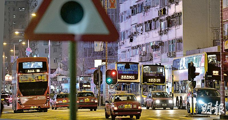 巴士服務調查報告  45建議採納36項  中環深水埗劃區 車速限30公里