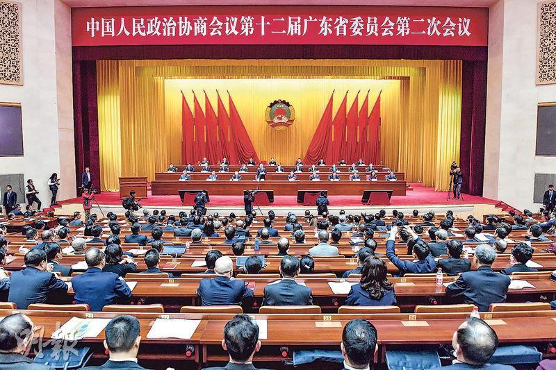 政協廣東省第十二屆二次會議昨日在廣州開幕。(中新社)