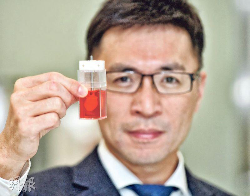 再心生物科技創辦人及行政總裁李登偉(圖)掌握以幹細胞培植「迷你人類心臟」技術,開發出以其測試新藥的市場,對於綱要提出將大灣區建設成國際科技創新中心,他認為香港可作科研基地,並於大灣區發展市場。(楊柏賢攝)
