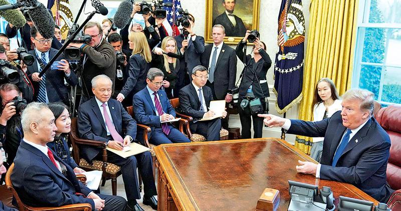 貿談延長兩天進入「第七輪+」 特朗普白宮語劉鶴:達協議可能大