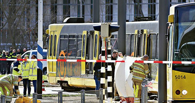 槍手掃射電車3死5傷 荷蘭查恐襲 案發烏得勒支 追緝土耳其裔漢