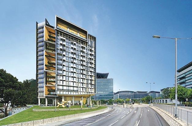 「創新斗室」樓高17層,提供約500個宿位,將採用「組裝合成」建築法興建,料項目可提早至2020年底完工。(科技園提供設計圖片)