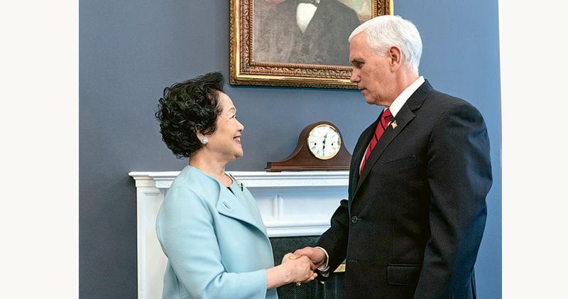 美副總統晤陳方安生 談一國兩制 白宮接待港民主派 規格歷來第二高