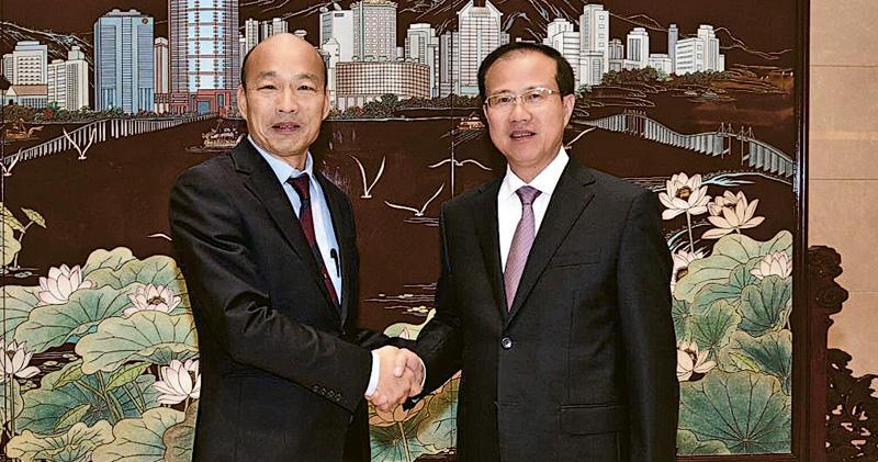 韓國瑜入港澳中聯辦 陸委會籲說明 「只想賣水果水產」 共簽34億台幣合約