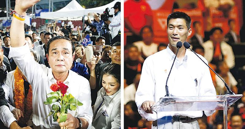 泰國今大選 政黨爭「首投族」支持 反政府學生嘆難成立政黨 軍方支持巴育連任勢優