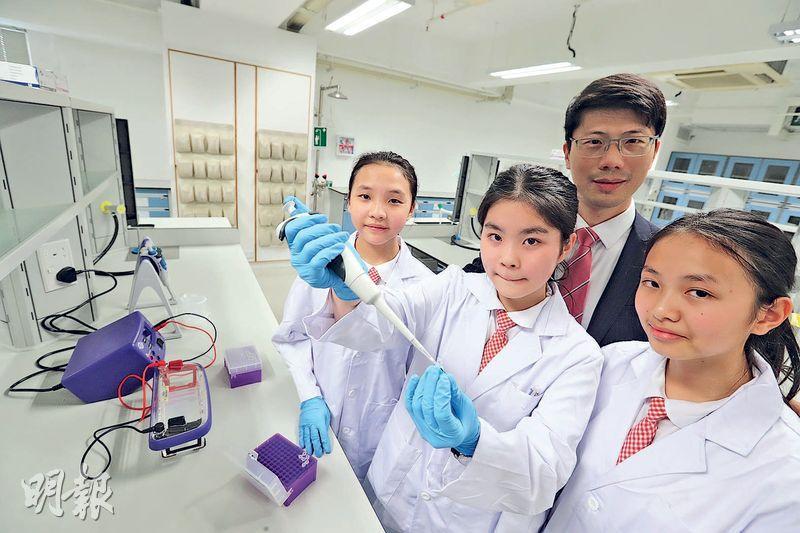 中學建生物科技室 教改基因自創水果