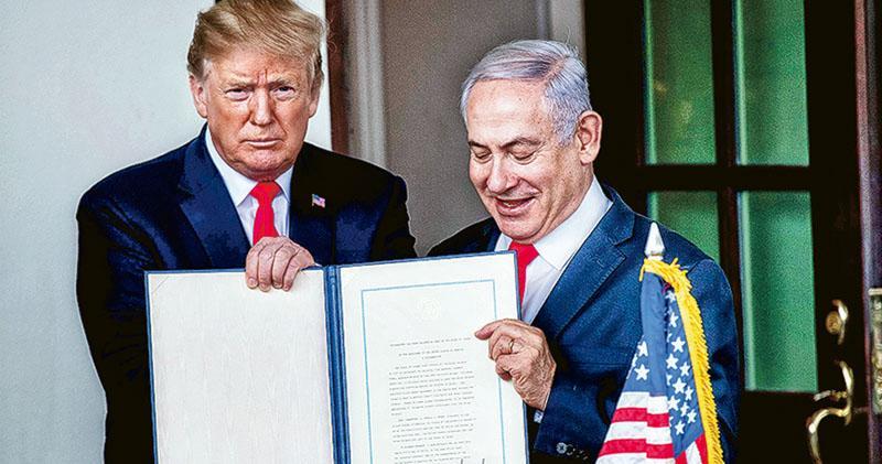 無視國際共識 簽令承認主權 特朗普「贈戈蘭高地」 被指為以總理助選