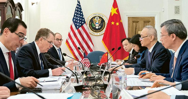 劉鶴今晤特朗普  中美有望達協議  定2025死線  須大買美貨准美企在華全資經營