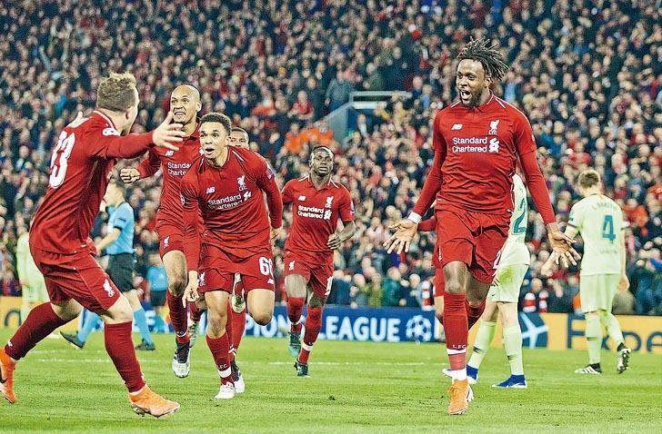 紅軍大奇蹟日  反勝巴塞闖歐聯決賽  次回合淨勝4球扭轉劣勢  複製伊斯坦堡傳奇