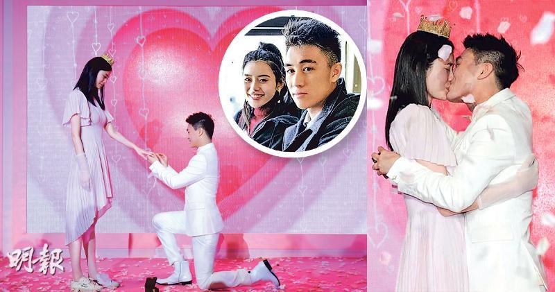 上海商場變舞台 何猷君求婚  內地超模奚夢瑤變身準「何太」