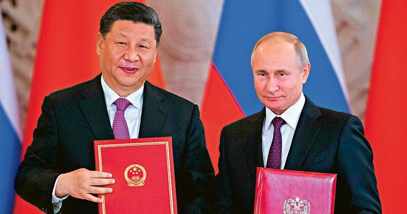 中俄關係升級 「新時代全面戰略伙伴」  習近平抵莫斯科  簽兩聯合聲明