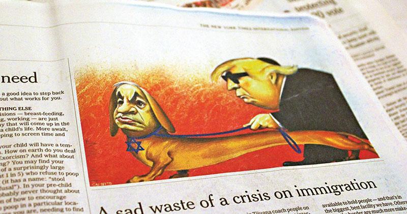 《紐時》反猶風波 停登政治漫畫 漫畫家無奈:社交網充斥「道德暴徒」
