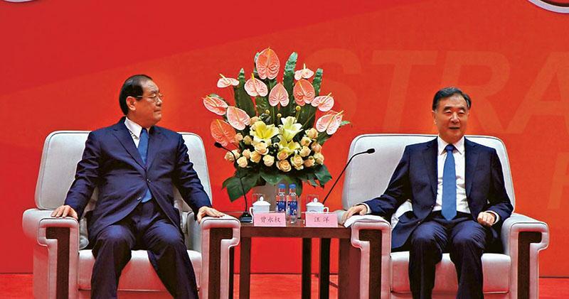 批民進黨 汪洋:絕不為台獨留餘地 出席海峽論壇 未提兩制台灣方案