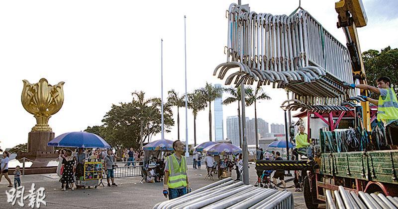 網民號召塞爆金紫荊  民署不安排制服團體出席  安全考慮 七一升旗禮縮規模