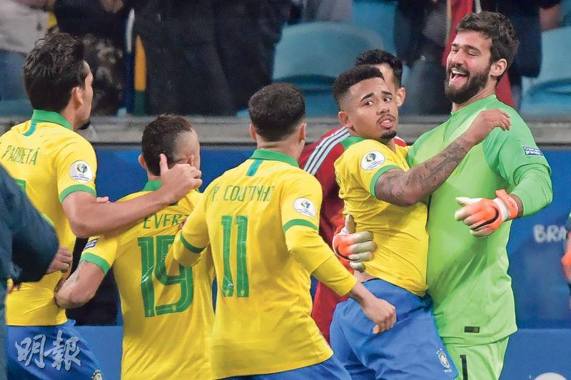 巴西贏12碼 率先闖4強 氣走巴拉圭復仇 艾利臣力挽狂瀾成英雄