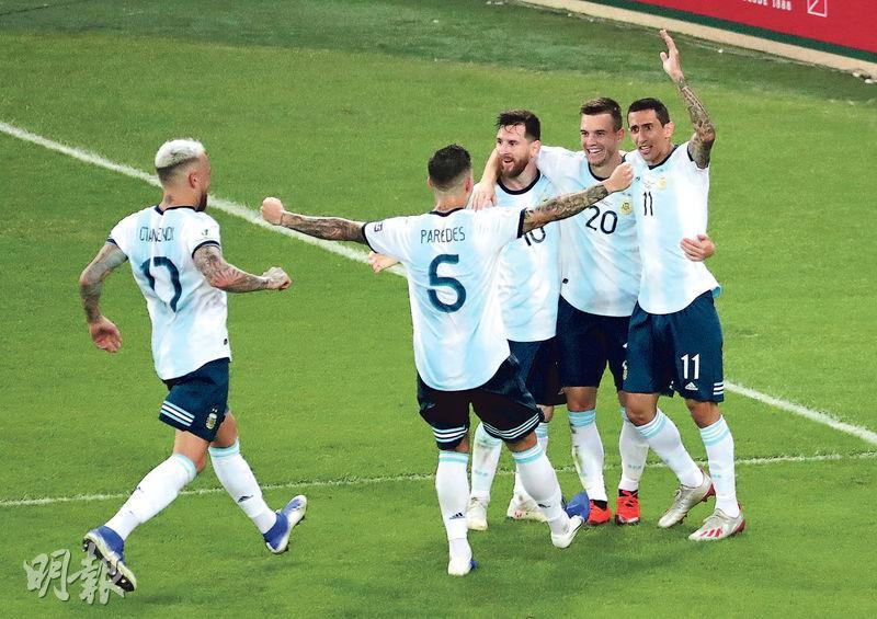 阿根廷輕取委軍晉4強 美斯再食白果 下仗求挫巴西