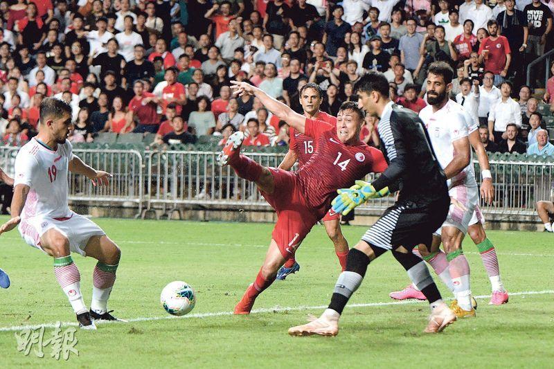 港足兩球憾負伊朗 主場力戰贏掌聲 保對賽不失多於3球往績 主帥讚球員付出所有