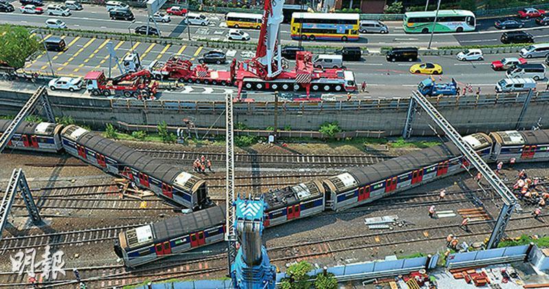 東鐵斷腰出軌  路軌3處見裂  500客疏散8傷  工程師料外物導致可能微