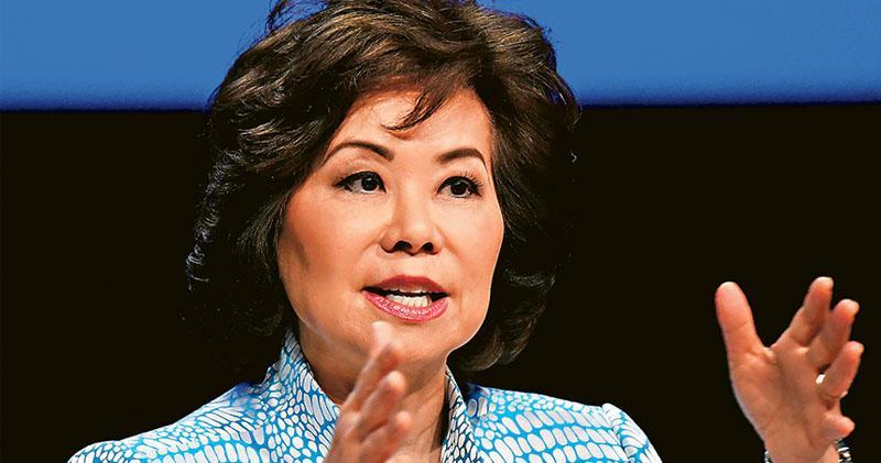 趙小蘭涉利益衝突  美國會調查  丈夫為參院領袖麥康奈爾  共和黨高層勢力臨衝擊
