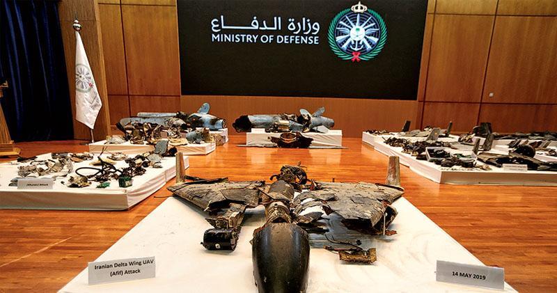沙特展無人機導彈殘骸 指證伊朗 德黑蘭斥利雅得自證不設防缺陷