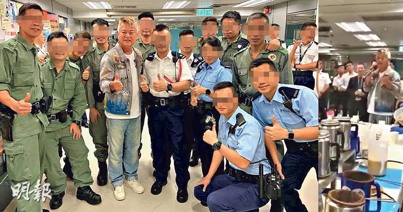 安排咖啡奶茶慰勞 大讚警隊最正義最識道理 陳百祥稱若做一哥 兩月前已開真槍