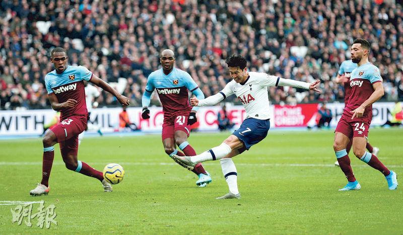 摩帥領熱刺首仗報捷 作客3:2挫韋斯咸 終止英超5場不勝