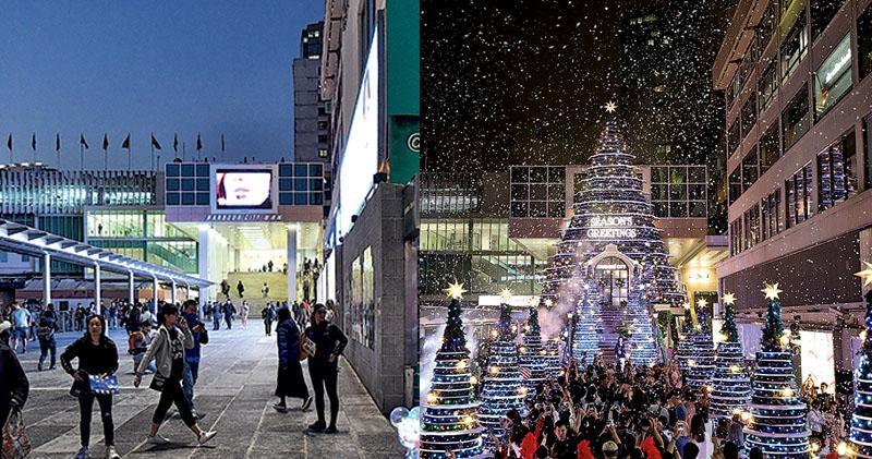 又一城燒樹嚇怕地產商  恐聚眾出事  商場聖誕裝飾大減  IFC砌完都拆