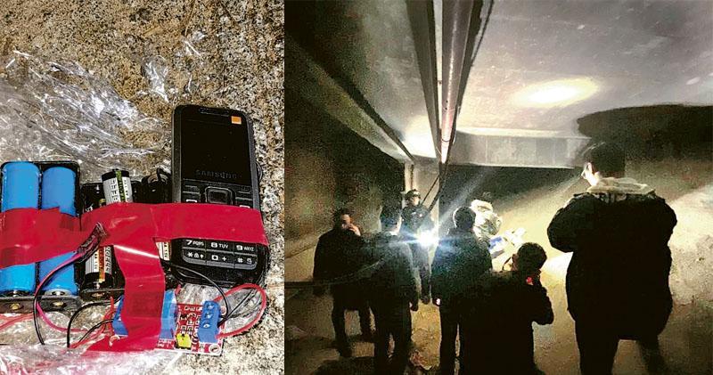 香港華仁地基 檢兩土製炸彈 警:可遙控 百米內致傷亡