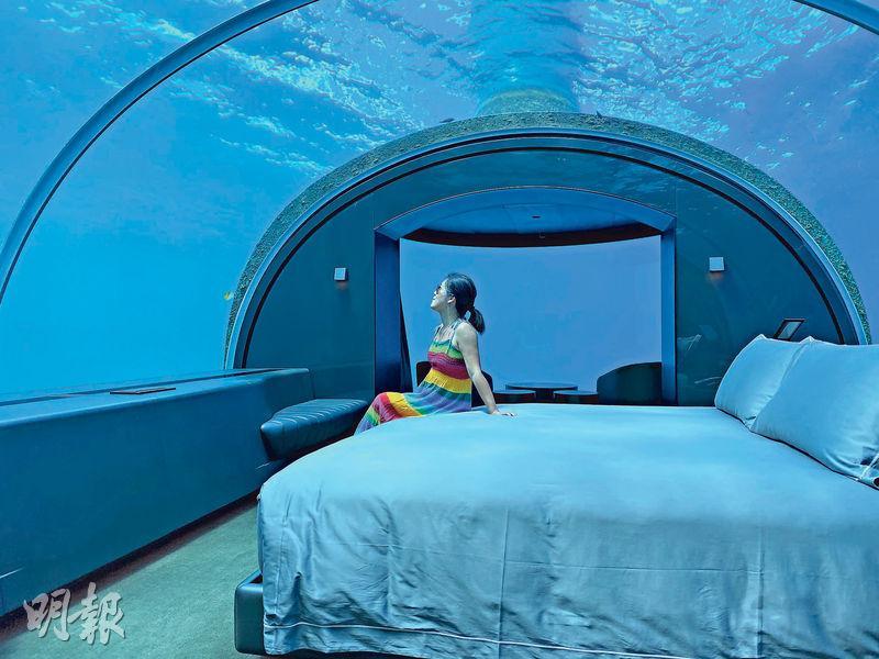 別墅設透明天幕  鯊魚為伴  馬爾代夫  潛入海底宿一宵
