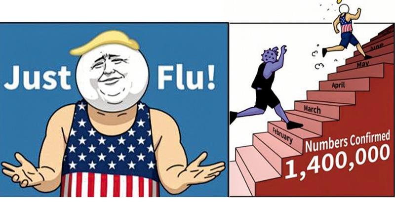 華駐法使館Twitter漫畫諷特朗普防疫 內地學者:外交官風格轉變 美專家:播不信任種子