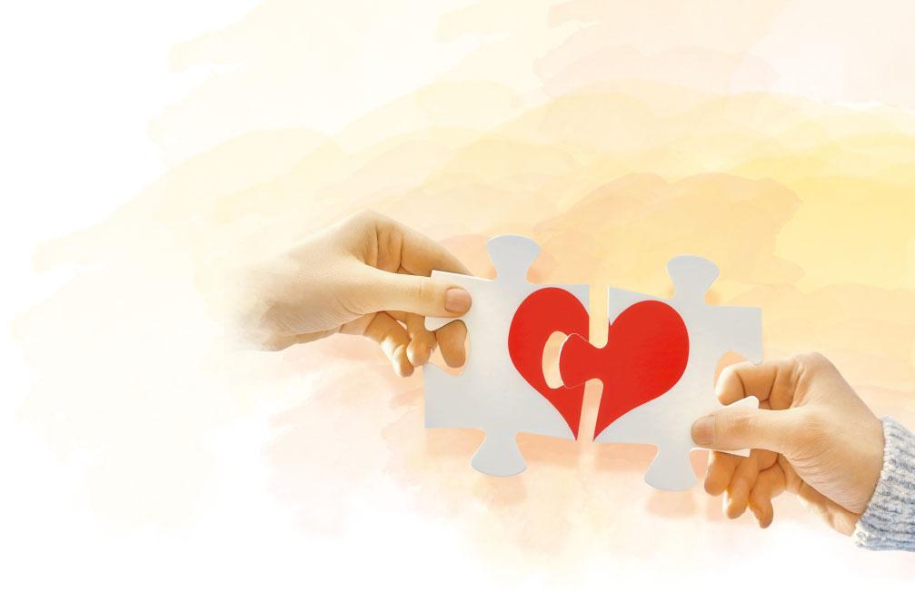 修補關係——夫妻之間學懂成熟的愛,找出對方的優點,在婚姻危機中修補關係。(設計圖片,Choreograph@iStockphoto)