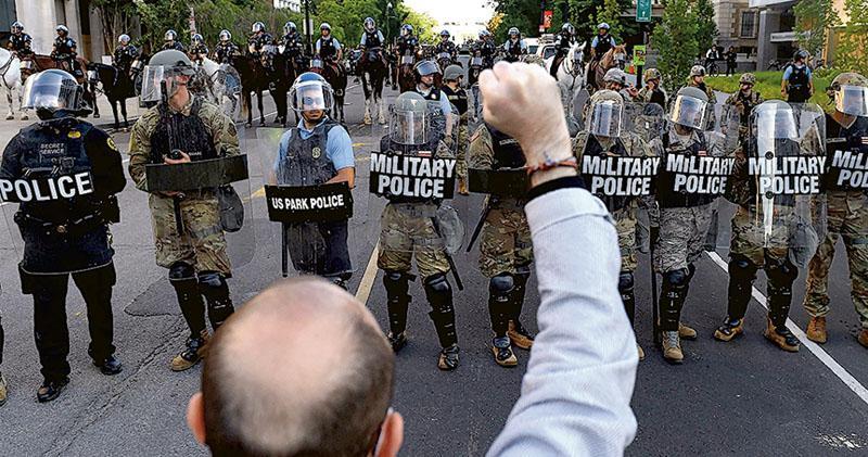 示威變亂局 特朗普擬出兵捱轟  民主黨議員批對付國民「獨裁不美國」
