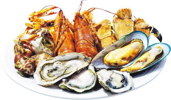 seafood, 龍蝦,螺,蝦,青口,蒸魚,鮑魚