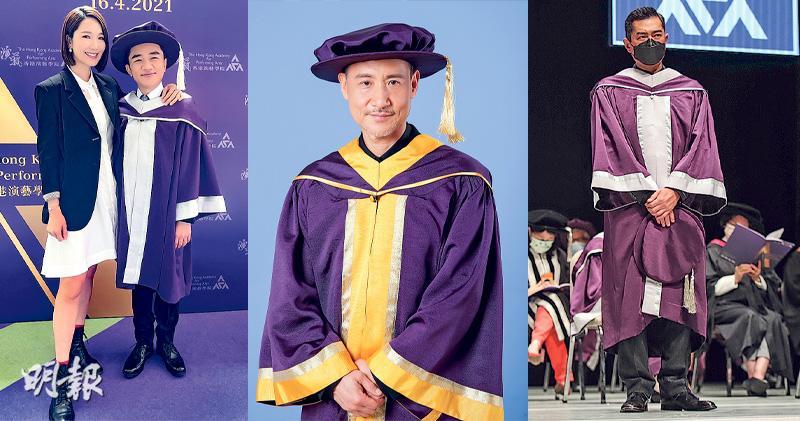 古天樂王祖藍獲演藝學院頒授榮譽院士 張學友獲榮譽博士:以為無機會做到